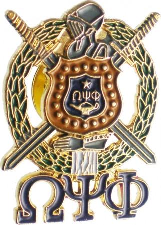 Omega Psi Phi Shield Letter Pin