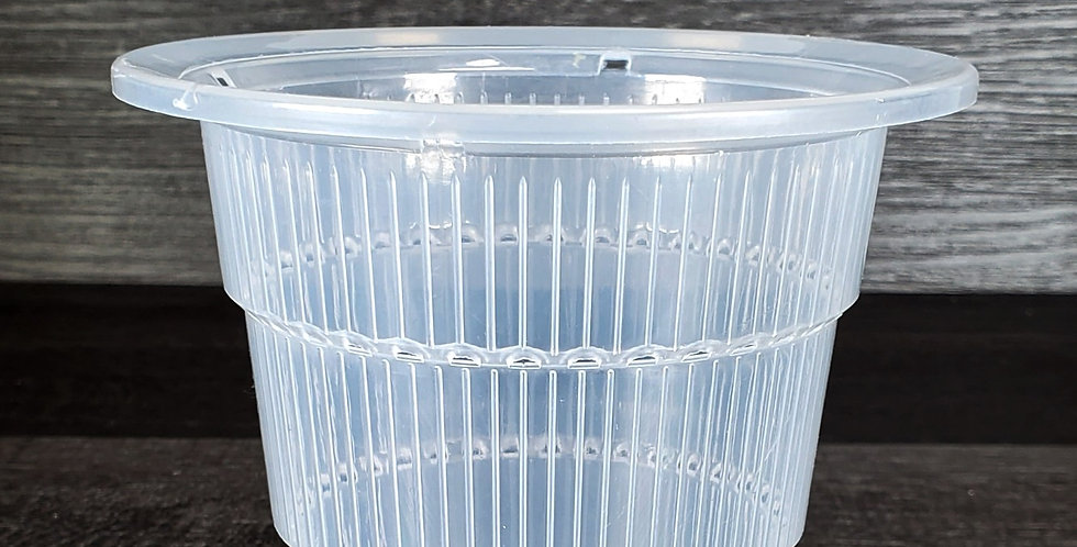 """4"""" Top Dia Clear (S) Thick Plastic Orchid Pots"""