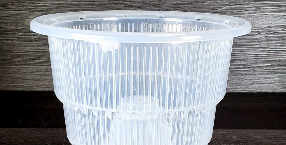 """5"""" Top Dia Clear (M) Thick Plastic Orchid Pots with Holes"""