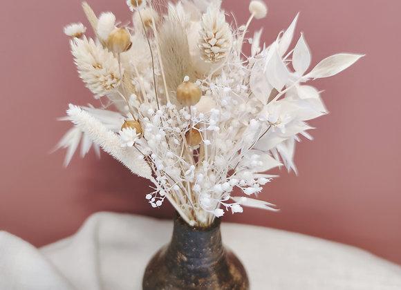 bouquet fleurs séchées céramique