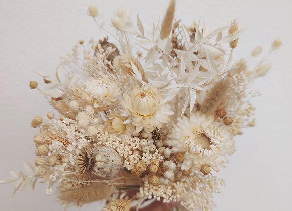 bouquet de fleurs séchées blanc