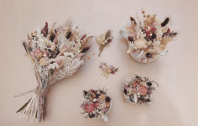 fleurs séchées mariage pays basque