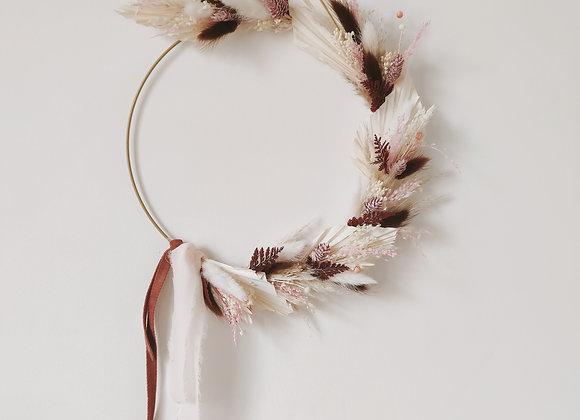 couronne fleurs séchées atelier lunaria