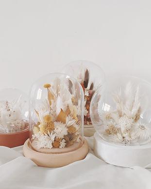composition fleurs séchées atelier lunaria