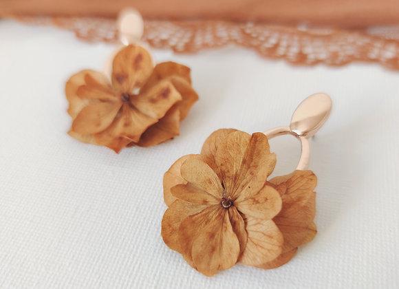 boucles d'oreilles fleurs séchées