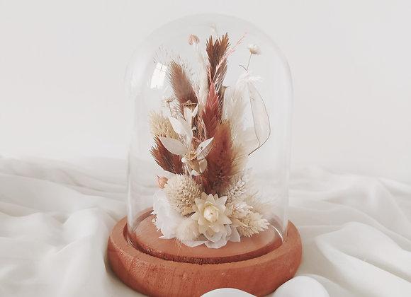 cloche fleurs séchées atelier lunaria