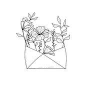 Croquis enveloppe fleurie