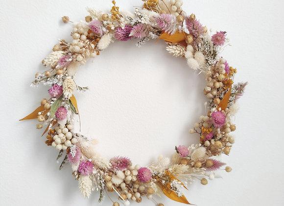 couronne fleurs séchées fête des mères atelier lunaria