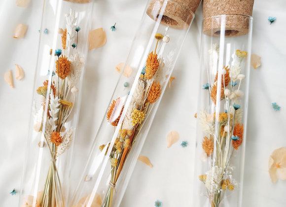 éprouvette fleurs séchées atelier lunaria