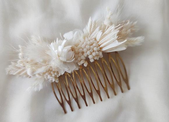 Peigne en fleurs séchées - modèle L