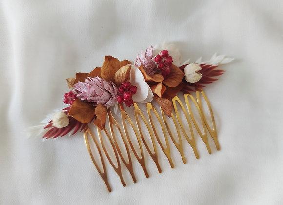 atelier Lunaria peigne fleurs séchées