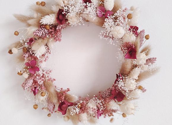 couronne fleurs séchées saint-valentin