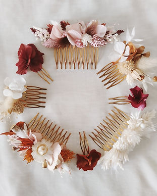 peigne fleurs séchées biarritz