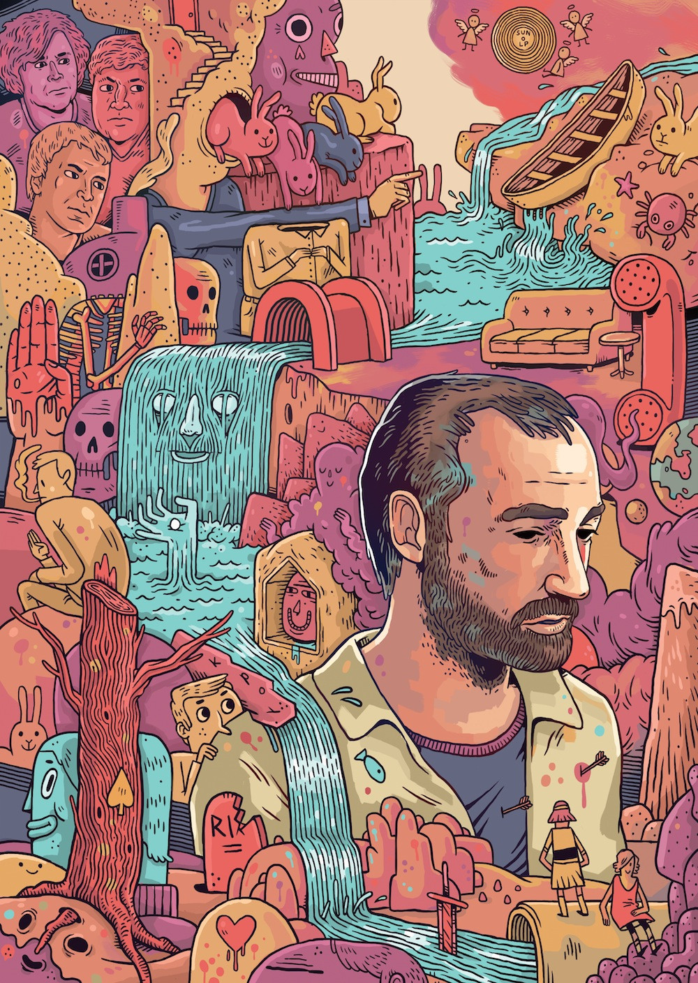 Portrait of James Mercer (The Shins) for 'Port of Morrow' Review