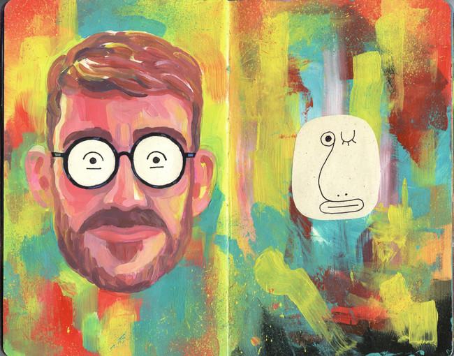 Self Portrait Getting an Uncomforatable Wink