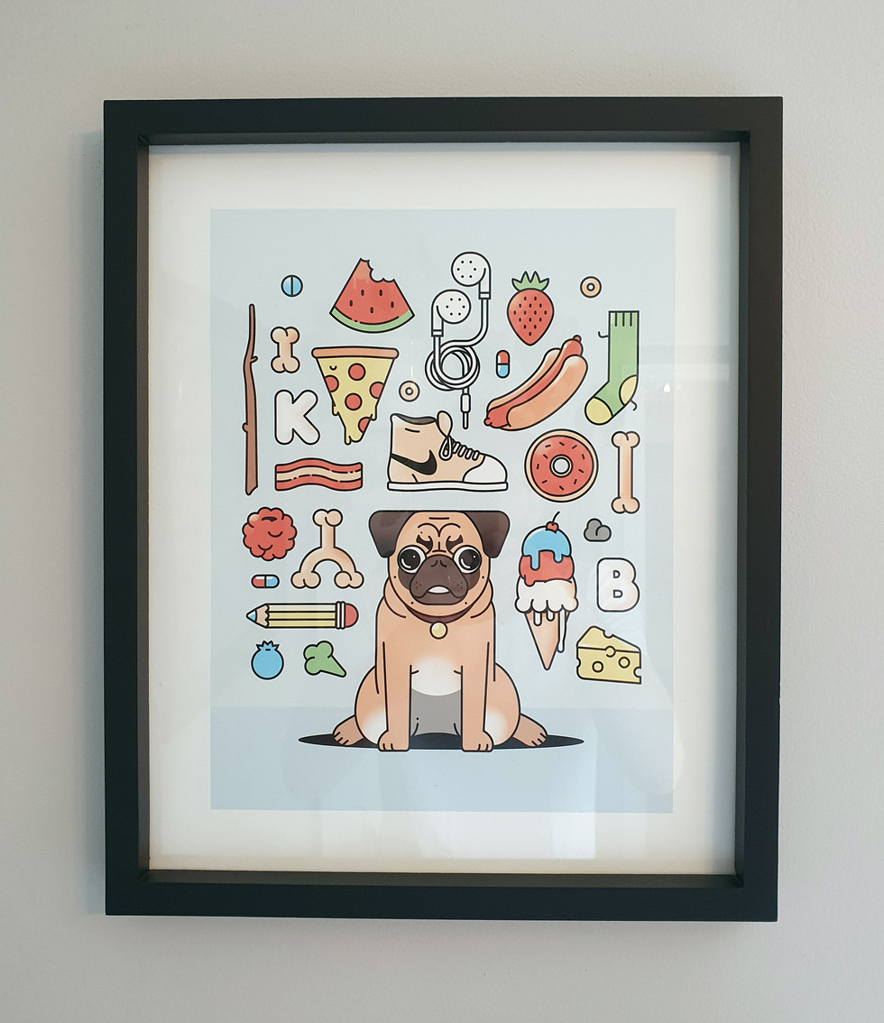 Things My Dog Ate (Framed)