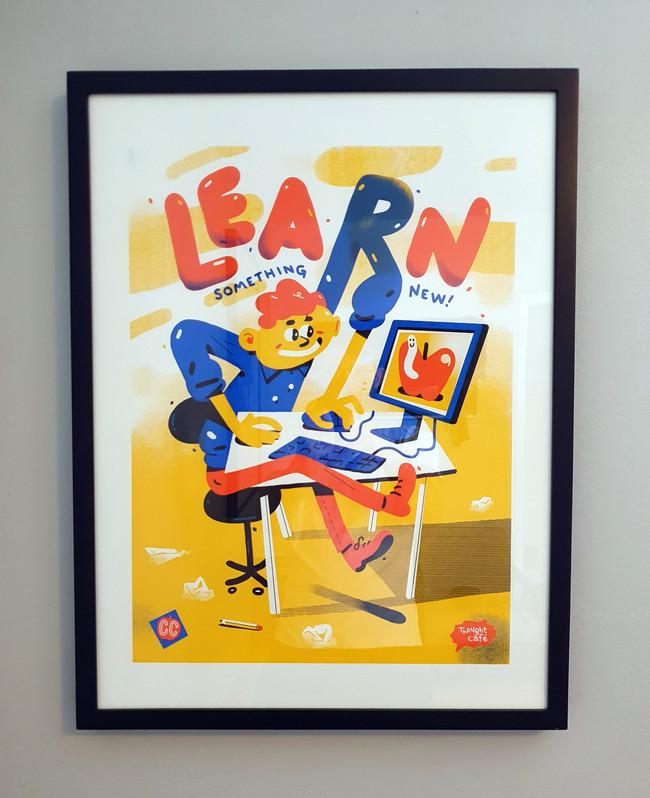 Learn Something New (Framed)