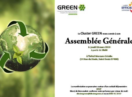 Cluster Green organise son Assemblée Générale 2018