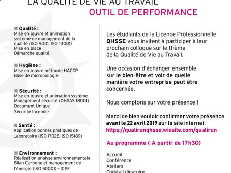 SAVE THE DATE: Colloque sur La QVT, un outils de performance