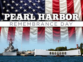 Monday, December 7 Pearl Harbor Remembrance Day And Video