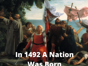 Giving Thanks for 1492 When Columbus sailed the Ocean Blue.