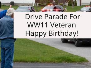Parade For WW11 Veteran