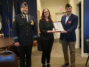 VFW Awards Monica Boehle Teacher of the Year