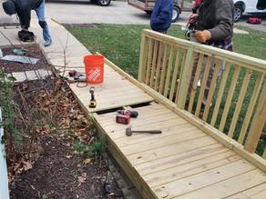 17 Local Veterans Help Build a Ramp & Deck for WWII Veteran