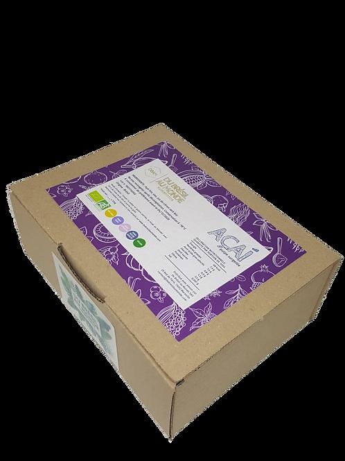 Pulpe d'açaí sauvage bio surgelée • naturelle, sans conservateur, sans sucre