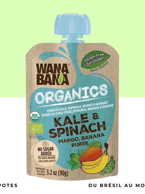Purée Kale et Épinards BIO • naturelle, sans conservateur et sans sucre