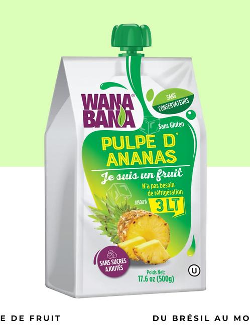 Pulpe de ananas non réfrigérée • naturelle, sans conservateur et sans sucre