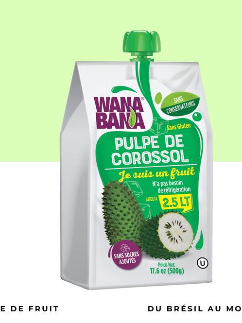Pulpe de corossol non réfrigérée • naturelle, sans conservateur et sans sucre