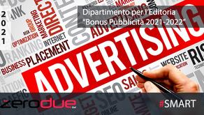 BONUS PUBBLICITA' 2021-2022