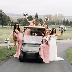 Beep beep, baddest bridal party comin' t