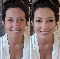 How perfect is this natural bridal glam