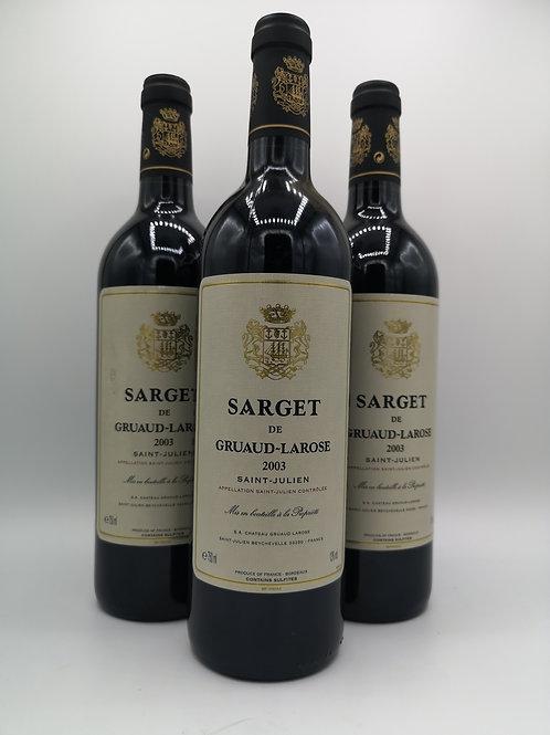 2003 Sarget de Graud-Larose St Julien