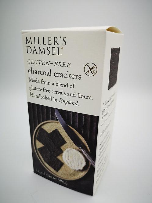 Miller's Damsel gluten free charcoal crackers