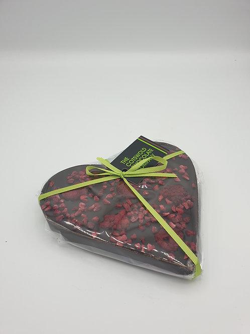 Raspberry dark chocolate heart.