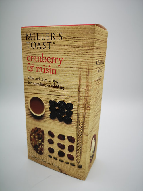 Miller's Toast cranberry and raison.