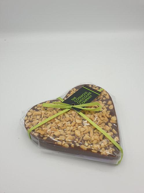 Honeycomb milk chocolate heart.