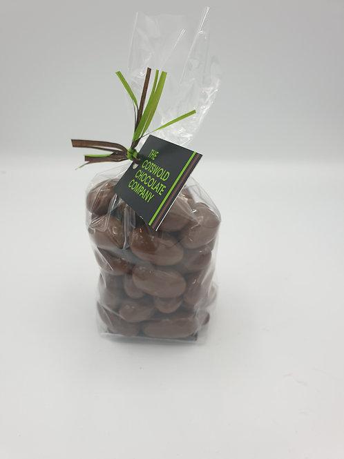 Milk chocolate almonds.