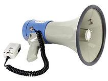 verhuur van een megafoon voor op uw event
