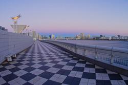 夕暮れの晴海埠頭