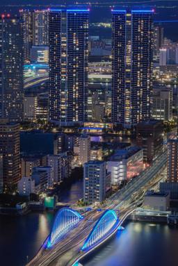 築地大橋と夜景