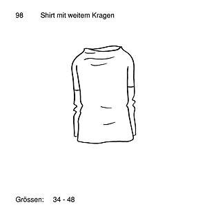 Schnittmuster 98 Shirt mit weitem Kragen