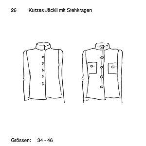 Schnittmuster 26 Kurze Jacke mit Stehkra
