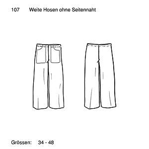 Schnittmuster Weite Hose ohne Seitennaht