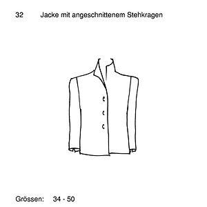 Schnittmuster 32 Jacke mit angeschnitten