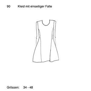 Schnittmuster 90 Kleid mit einseitiger F