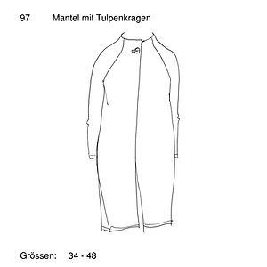 Schnittmuster 97 Mantel mit Tulpenkragen